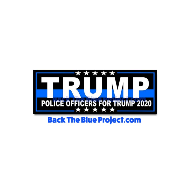 Police Officers For Trump Stickers
