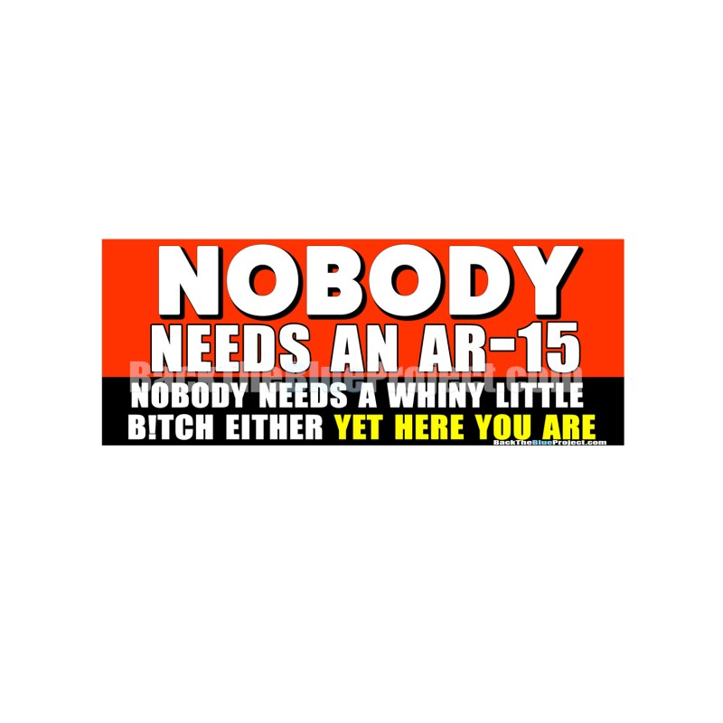Nobody Needs An AR-15 Nobody Needs A Whiny Little Bitch Either Yet Here You Are