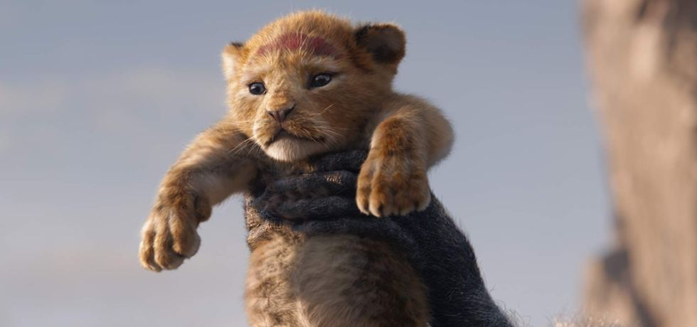 Baby Simba is held over the Pride Lands.