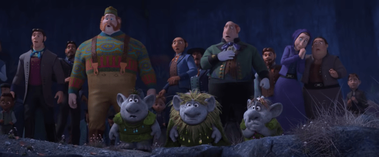 The trolls and people of Arendelle.
