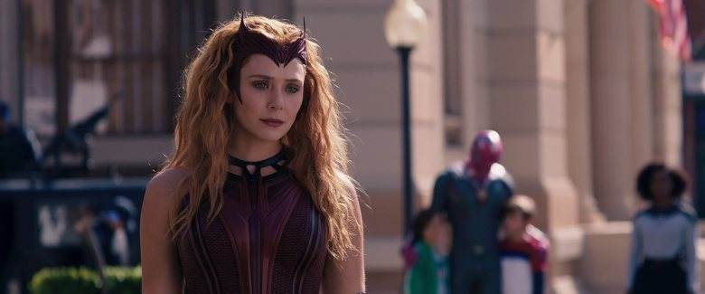 "Elizabeth Olsen as the Scarlet Witch in ""WandaVision."""
