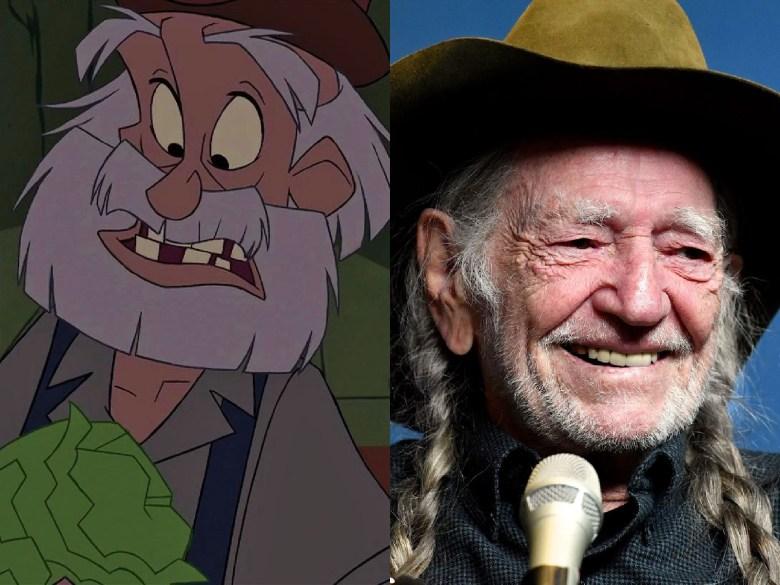 "Willie Nelson as Jebidiah Allardyce ""Cookie"" Farnsworth from ""Atlantis: The Lost Empire"""