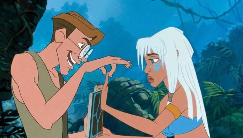 """Milo and Kida in """"Atlantis: The Lost Empire"""""""