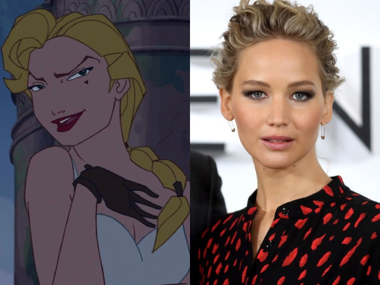 """Jennifer Lawrence as Helga Sinclair from """"Atlantis: The Lost Empire"""""""