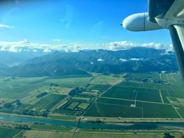 View from the plane as I flew into Blenheim for the first time.
