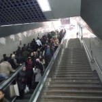 Nobody is using the stairs to get to the metro