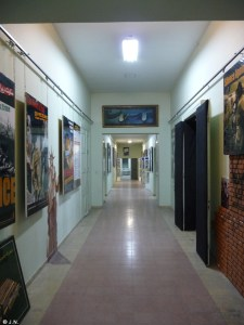 Looking down the corridor