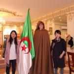 In traditional Algerian winter clothes - in summer