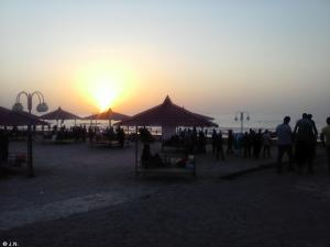 Sunset at Caspian Sea
