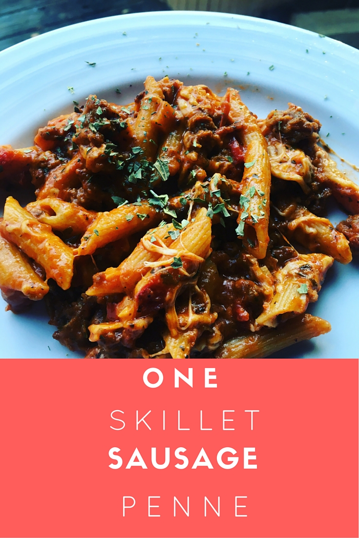 One-Skillet-Sausage-Penne-Pasta_Easy-Pasta-Dinner-Recipe_BackwardsNHighHeels_Blog