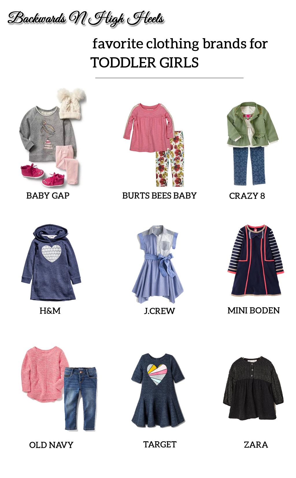 Favorite Clothing Brands for Toddler Girls