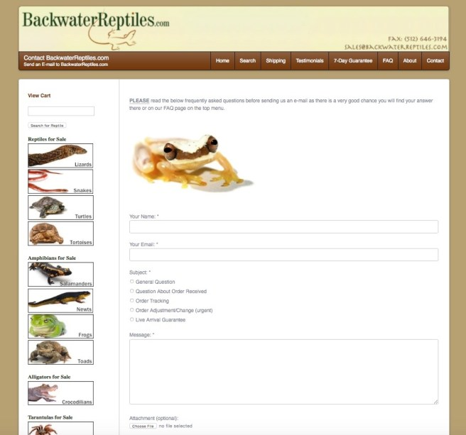 How Does the Backwater Reptiles Shipping Process Work?