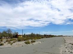 Deserted Salton Sea campgrounds