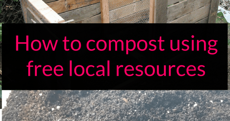 How to compost using free local resources