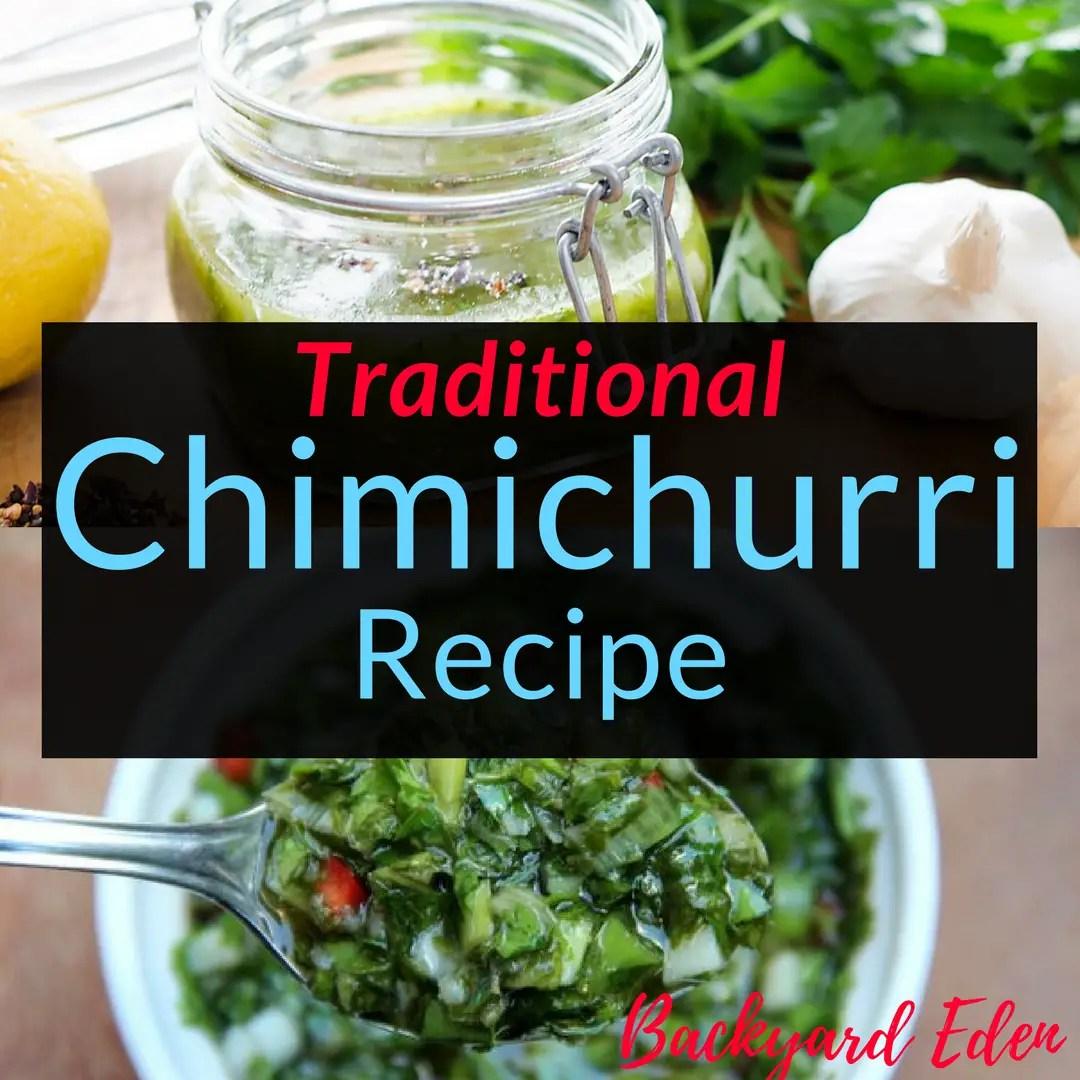 Traditional Chimichurri Sauce Recipe. Recipes, Chimichurri,, Backyard Eden, www.backyard-eden.com, www.backyard-eden.com/Traditional-Chimichurri-Recipe