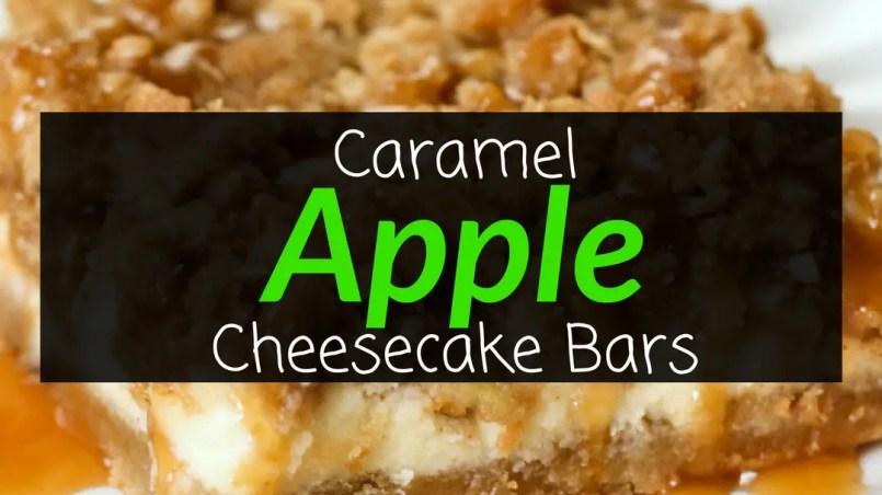 Caramel Apple Cheesecake Bars Recipe, Cheesecake Bars, Caramel Apple Cheesecake, Backyard Eden, www.backyard-eden.com, www.backyard-eden.com/caramel-apple-cheesecake-bars-recipe