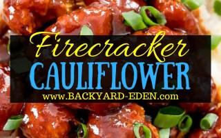 Firecracker Cauliflower, Vegetarian Recipe, Firecracker Cauliflower recipe, cauliflower, Backyard Eden, www.backyard-eden.com, www.backyard-eden.com/firecracker-cauliflower