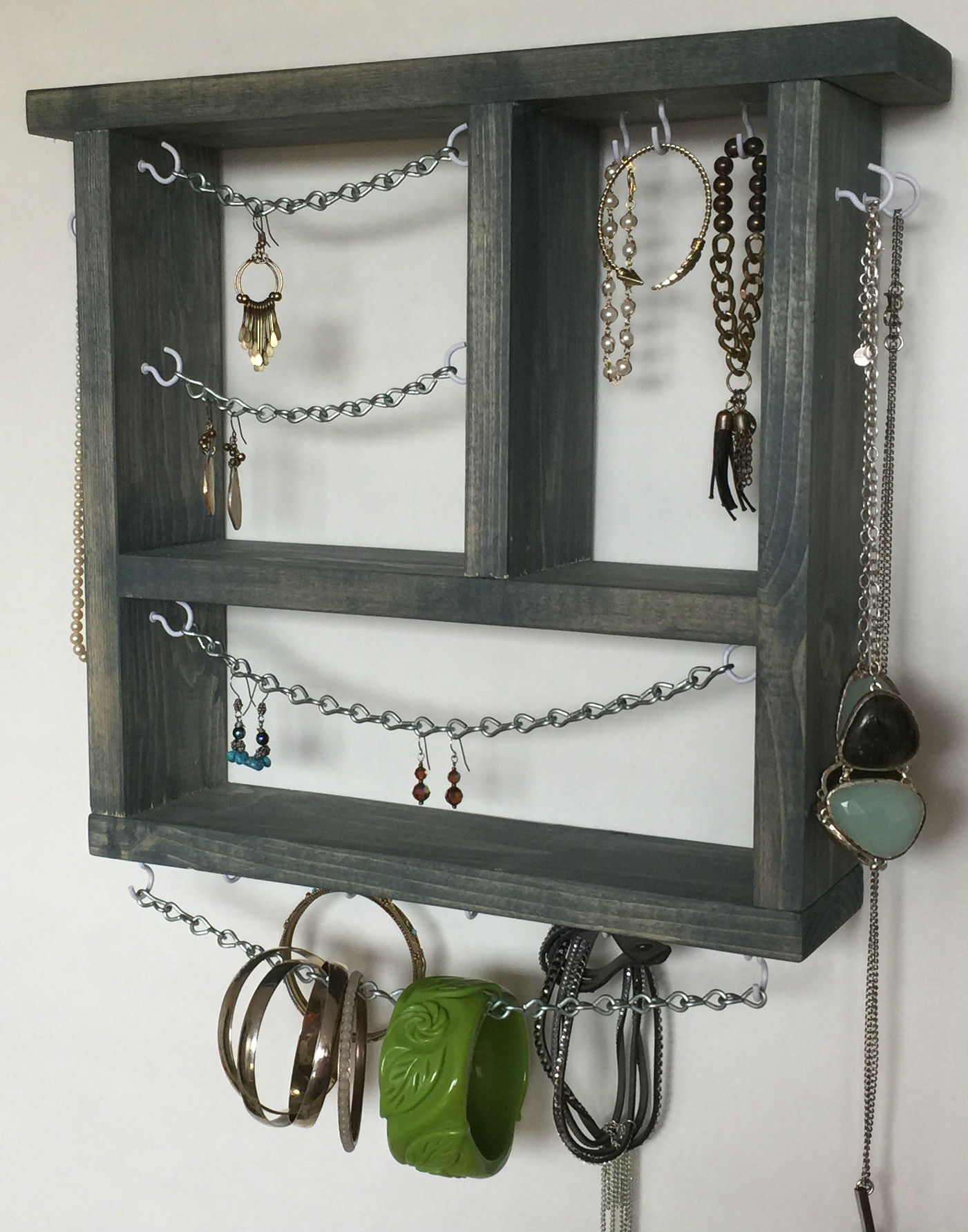 Jewelry Collection Organizer Wall Mounted