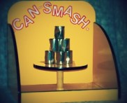 Tin can carnival game