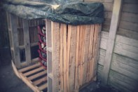 Early wood store roof