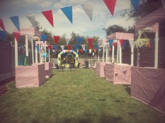 Stalls and bunting