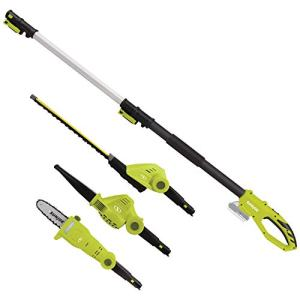 Sun Joe Garden Tool System, (Hedge Trimmer, Pole Saw, Leaf Blower)