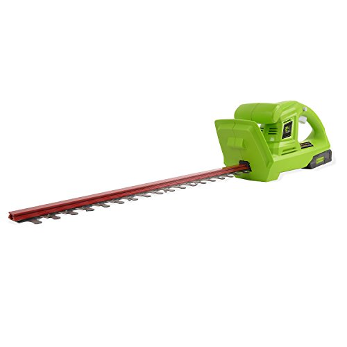 Greenworks 20-Inch 24V Cordless Hedge Trimmer with 2.0 AH Battery Included