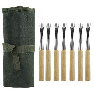 Jeffergarden Steel Carving Gouges 7Pcs Bonsai Tools