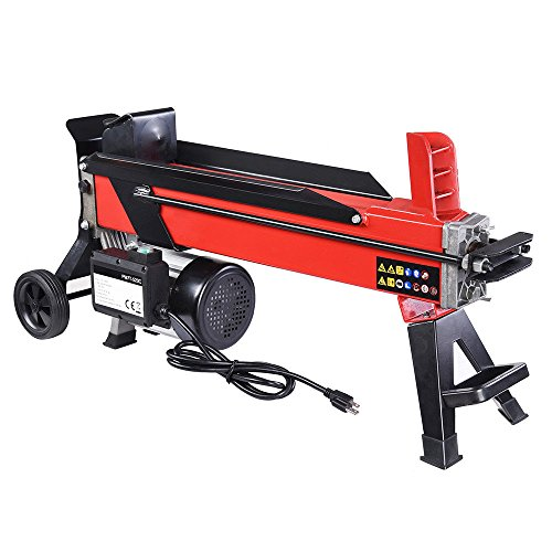 9TRADING Electrical Hydraulic Log Splitter 7 Ton Powerful Firewood Wood