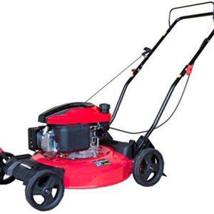PowerSmart Gas Push Mower, Red, Black PowerSmart DB8621C Gas Push Mower, Red, Black.