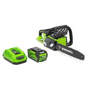 Greenworks 16-Inch 40V Cordless Chainsaw, 4.0 AH Battery Included