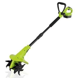 18V Handheld Electric Cordless Tiller - Battery Powered Hand