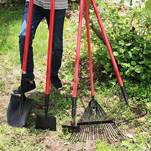GardenAll Garden Tools Set - Include Round Point Garden Shovel