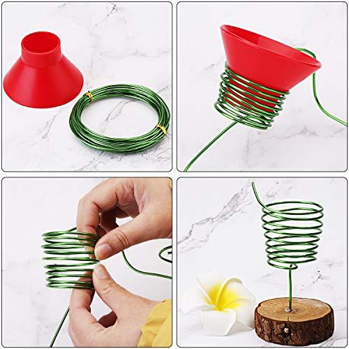 Zhanmai 9 Rolls Bonsai Wires Anodized Aluminum Bonsai Training Wire