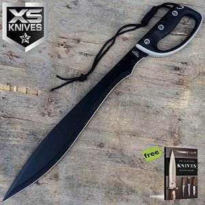 "24"" Heavy Duty MACHETE Rubber Handle w/Sheath Hunting Carbon Steel"