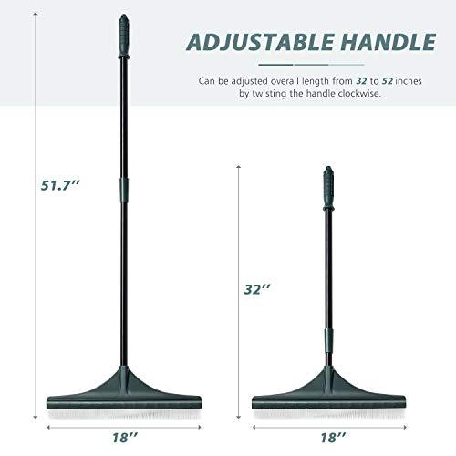 ORIENTOOLS Turf Rake, Ergonomic Adjustable Lightweight Steel Handle Product Title: