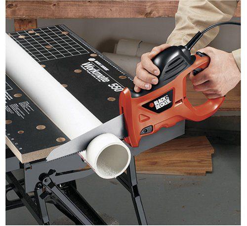 BLACK+DECKER 3.4 Amp Powered Handsaw with Storage Bag BLACK+DECKER PHS550B 3.4 Amp Powered Handsaw with Storage Bag.