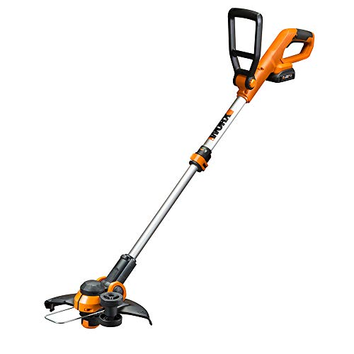 """WORX Cordless String Trimmer& Blower Combo, 20V 2 batteries The 12"""" Cordless Grass Trimmer with In-Line Wheeled Edging feels like rather a lot, however it could not be simpler to make use of. Simply pull the pinnacle down and rotate it 180 levels to change between Trimming and Edging features. The shaft telescopes down in case you're a brief gardener, or it elongates in case you're tall. And it tilts 90 levels so you may trim beneath the deck, the bushes or the canine. The deal with is adjustable, too, making this 2-in-1 Trimmer & Edger essentially the most snug garden & backyard device you may ever use. The Auto-Feed Line Administration System provides you the appropriate size for essentially the most exact cuts each time. The Flower Guard will maintain you from tearing via the tulips."""