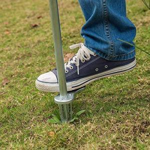 Sungmor Antirust Zinc Plating Upright Weeder,Long Handled Uproot Weed