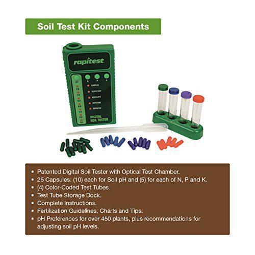 Luster Leaf Digital Soil Testing Kit Luster Leaf 1605 Digital Soil Testing Kit, 1, pH, N, P and K.
