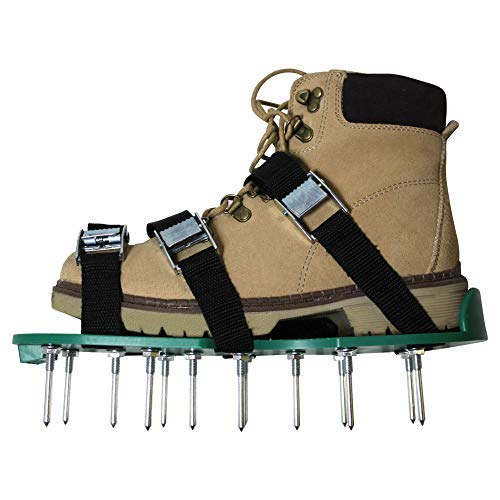 Lawn Aerator Shoes - Manual hand Tool with 26 Steel Metal Spikes