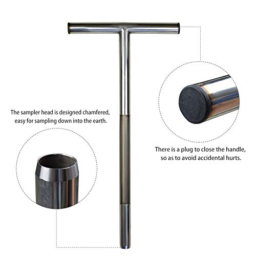 77A Soil Sampler Probe 20 Inch Stainless Steel with 2 Pcs Reusable Sample Bags Options: