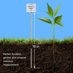 REOTEMP Garden and Compost Moisture Meter (15 Inch Stem) REOTEMP Garden and Compost Moisture Meter (15 Inch Stem), Garden Tool Ideal for Soil, Plant, Farm and Lawn Moisture Testing.