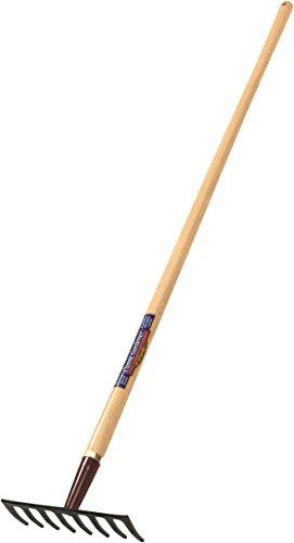 Truper Classic Gardener Level Rake, 8-Tine, Ash Handle