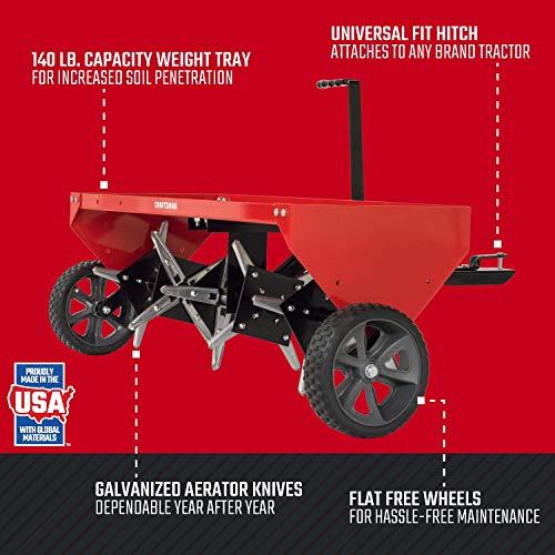 Craftsman 40 Tow Plug Aerator, Red Craftsman CMXGZBF7124213 40 Tow Plug Aerator, Red.