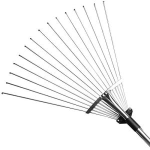 Gonicc 63 inch Professional Adjustable Garden Leaf Rake, Expanding Metal Rake Gonicc 63 inch Professional Adjustable Garden Leaf Rake, Expanding Metal Rake - Adjustable Folding Head From 7 Inch to 22 Inch. Collect Leaf Among Delicate Plants,Lawns and Yards, Hand Garden Scissors.