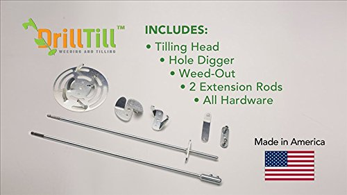 Drill Till, 3 Tools in 1, The Smartest Gardening Tool Kit for Weeding Rediscover the Pleasure of Gardening with Drill Until - The Smartest Gardening Tool for Each Process!