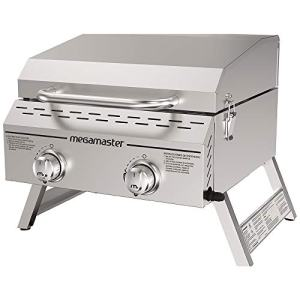 Megamaster Propane Gas Grill, Stainless Steel