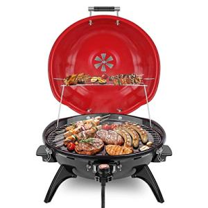 Techwood Electric BBQ Grill 15-Serving Electric Grill Outdoor/Indoor