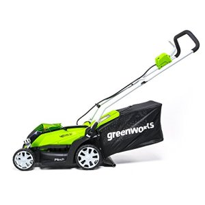 Greenworks 14-Inch 40V Cordless Lawn Mower, 4.0 AH Battery Included Greenworks 14-Inch 40V Cordless Lawn Mower, 4.0 AH Battery Included MO40B410.